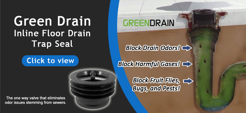 Drain-net-banner-green-drain Drain-Net Restaurant Plumbing Supplies, Grease Traps and Drain Strainers
