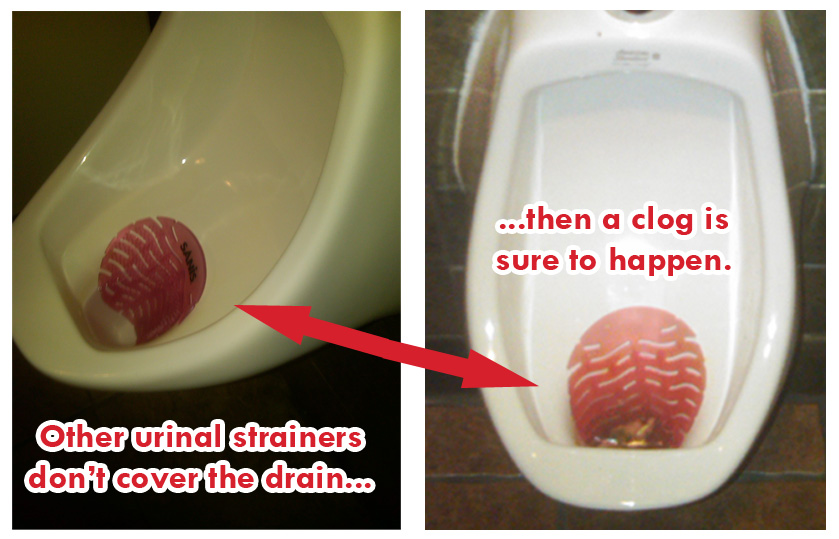 urinal strainer failure