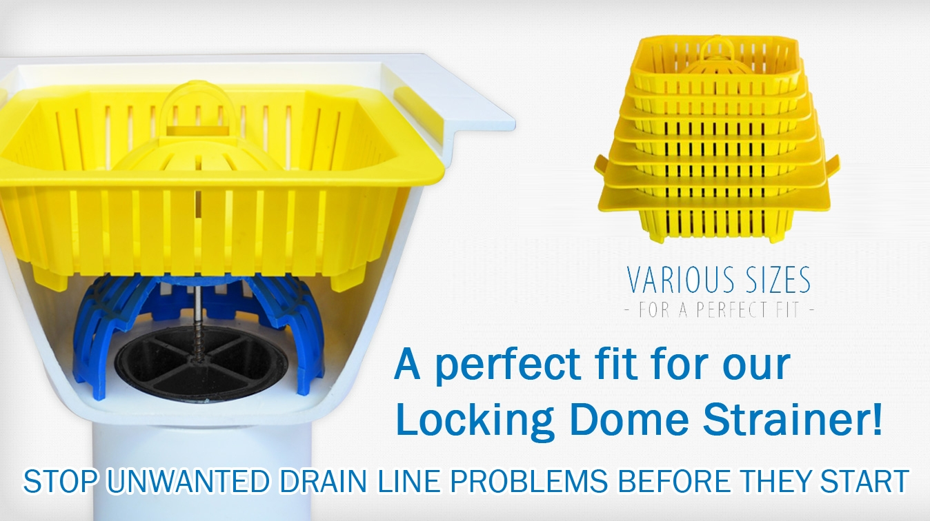 large safety basket for permadrain dome strainer in floor sinks
