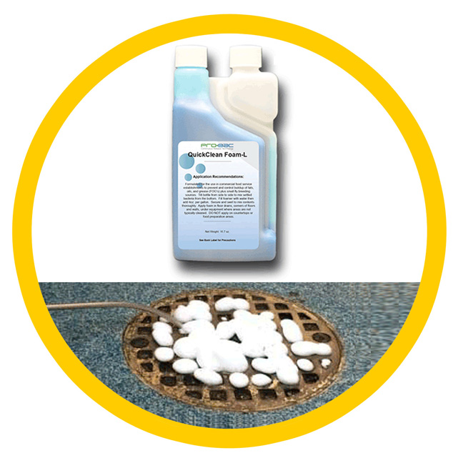 drain cleaning foam