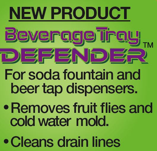 Soda Fountain and Beer Tap Dispensers - Eliminate fruit flies and drain clogs