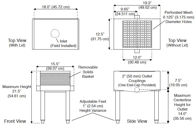 flat strainer for commercial kitchen specs