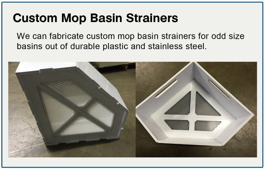 triangle and custom mop basin strainer