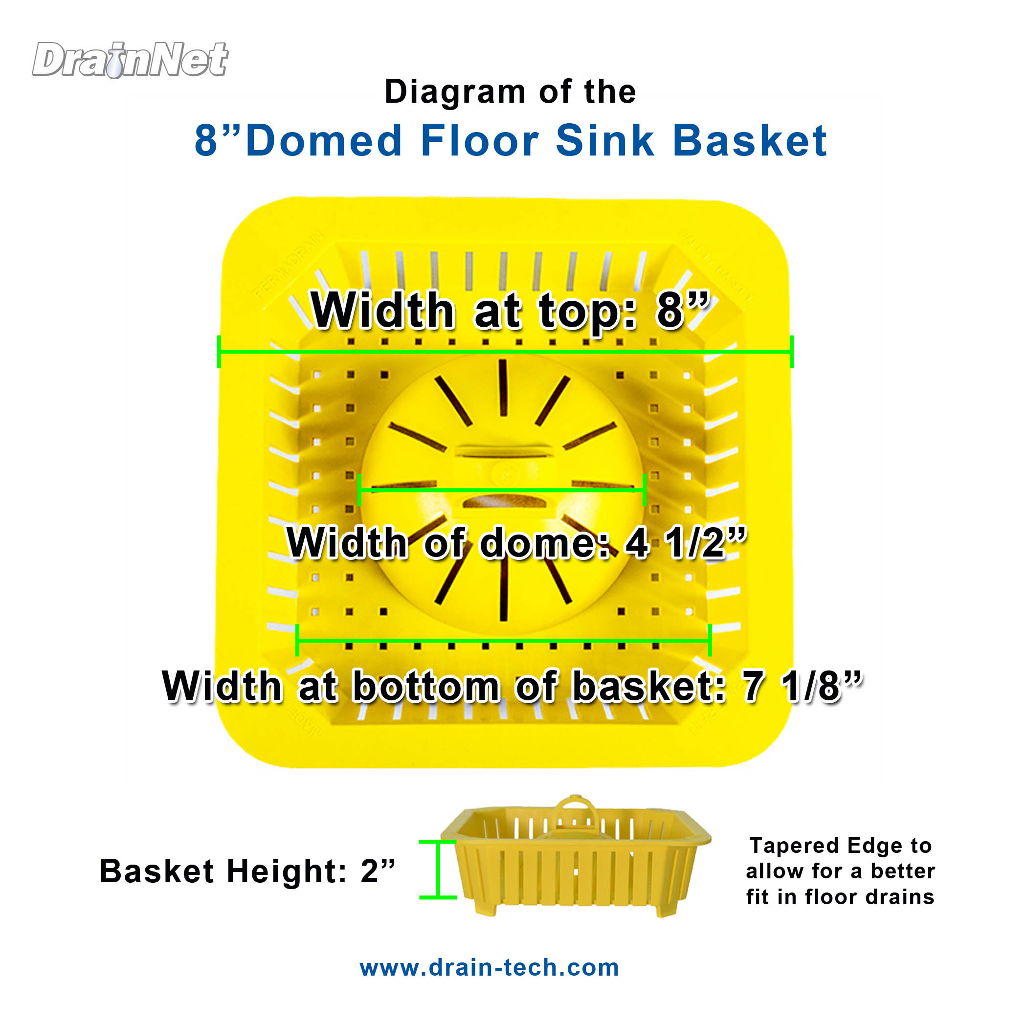 Small Safety Basket Domed 8 Inch For Commercial