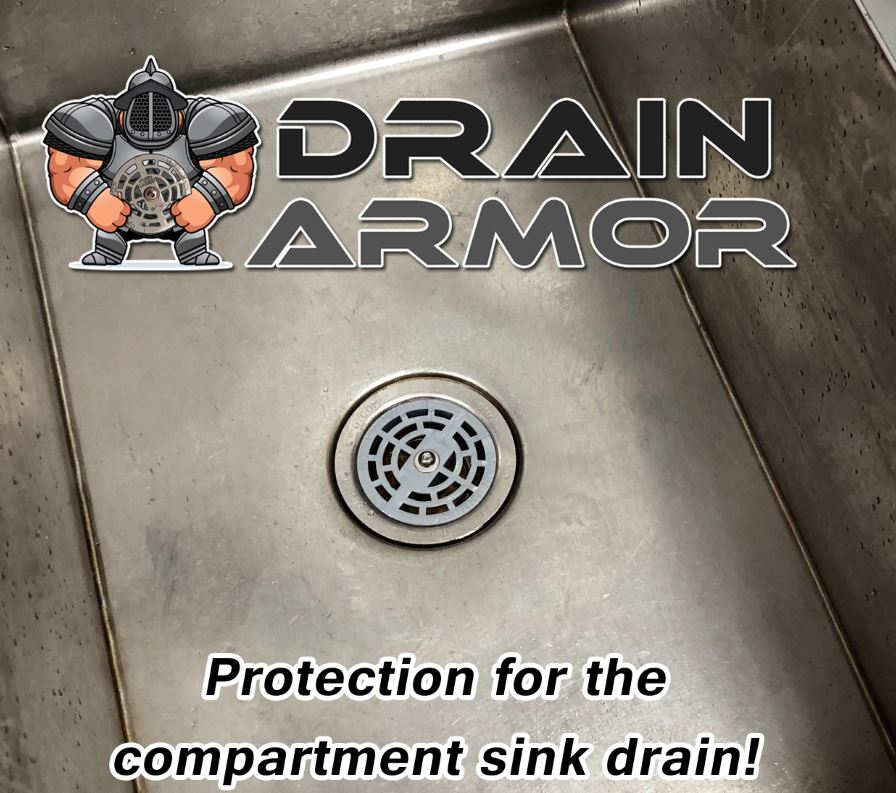 Drain Armor locking compartment sink strainer