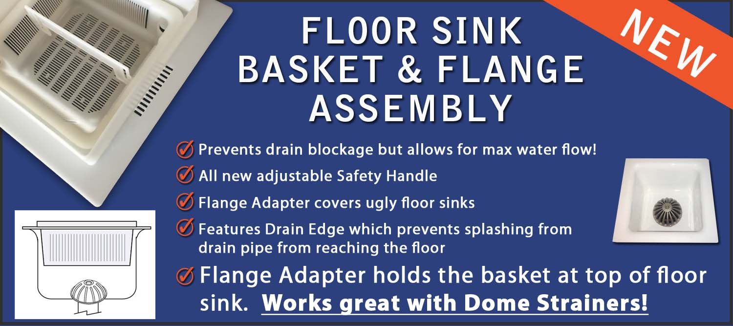 Floor Sink Basket over Dome Strainer