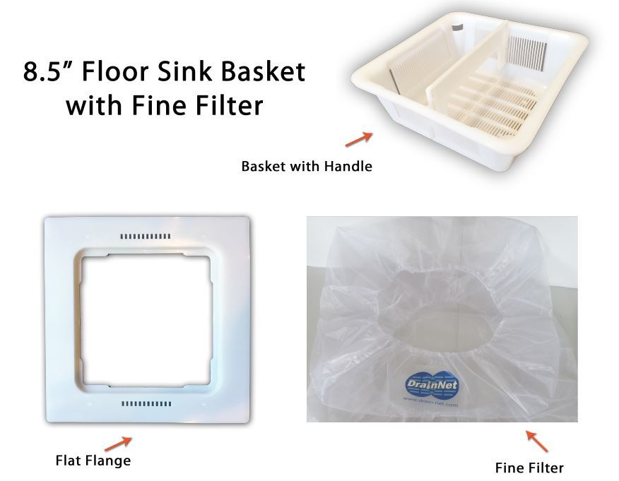 basket flange filter