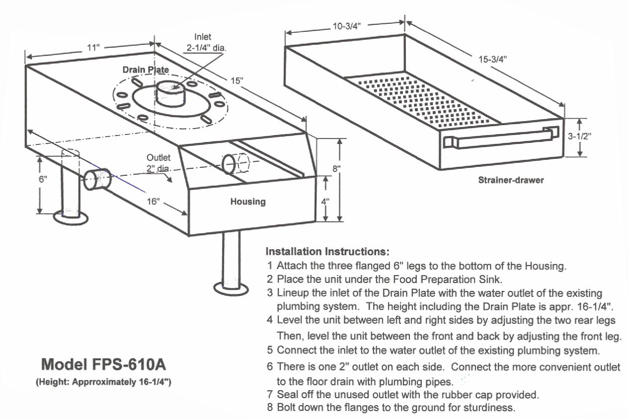 drain net fps 610A Installation Instructions web