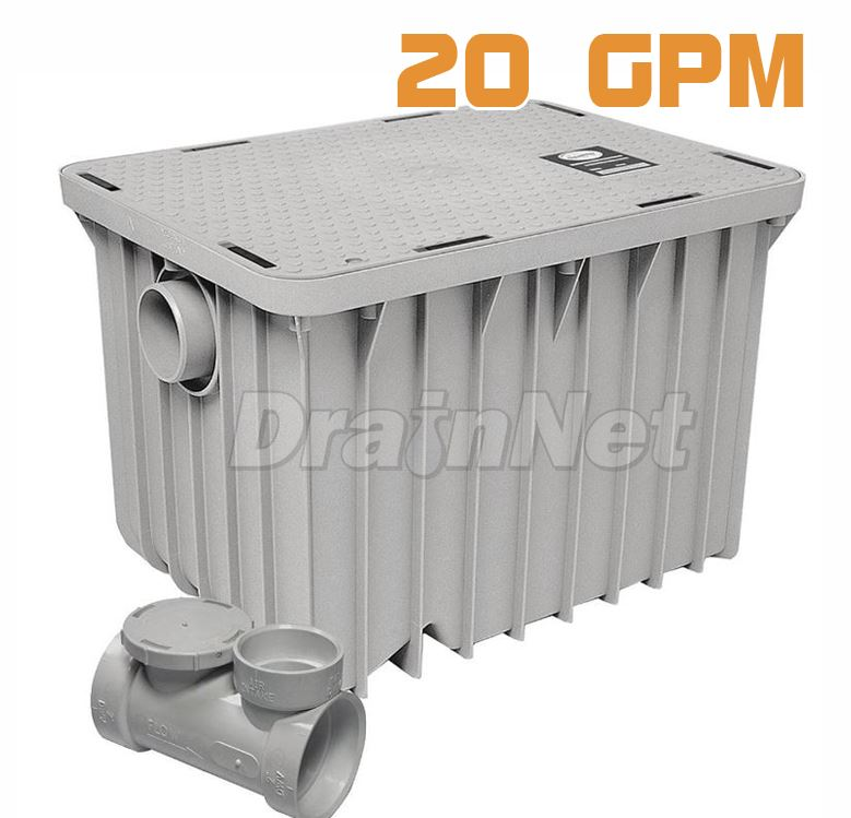 Industrial Kitchen Grease Trap: Commercial Kitchen 100 Lb Grease Trap 50 GPM PDI Certified