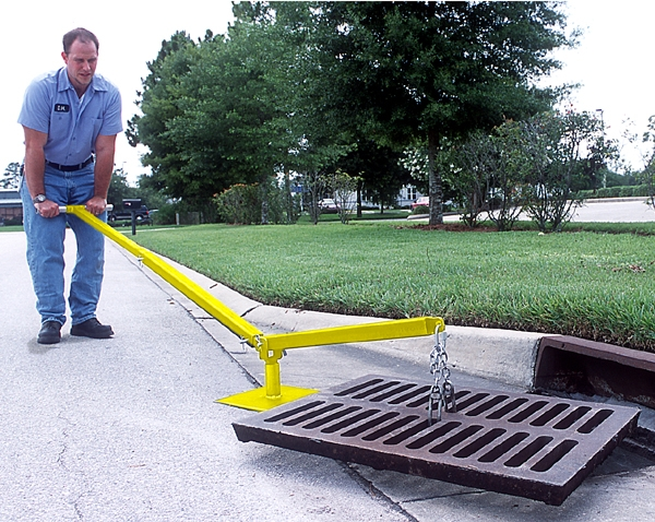 Grate Lifter To Remove Storm Water Grates And Drain Covers
