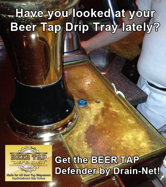 bacteria in beer tap drip tray