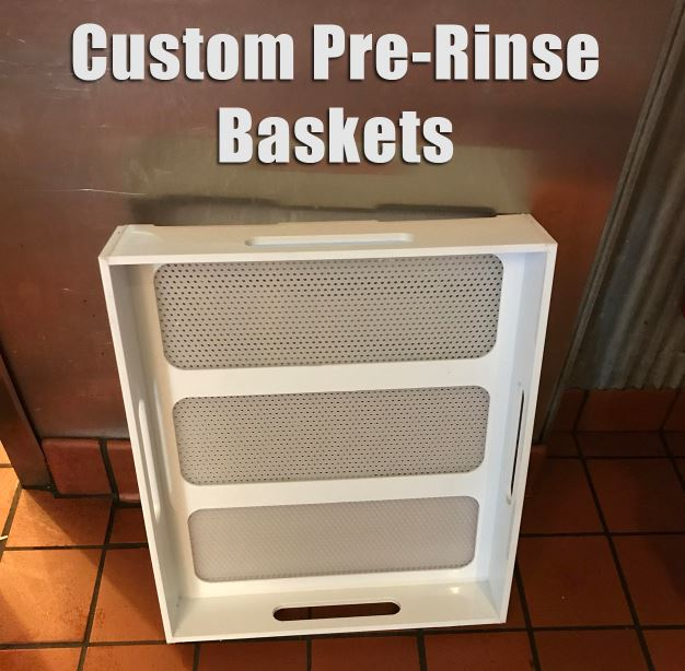 Custom Pre Rinse Basket For Compartment Sinks