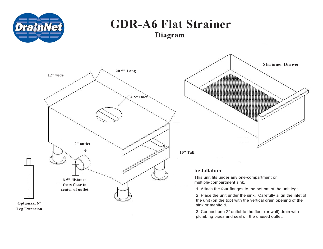 A6 Flat Strainer For Under Kitchen Sink Wet Waste Removal Similar Automatic Faucet Wiring Diagrams Gdru Step 3 And 4 Diagram Drain Net 2016