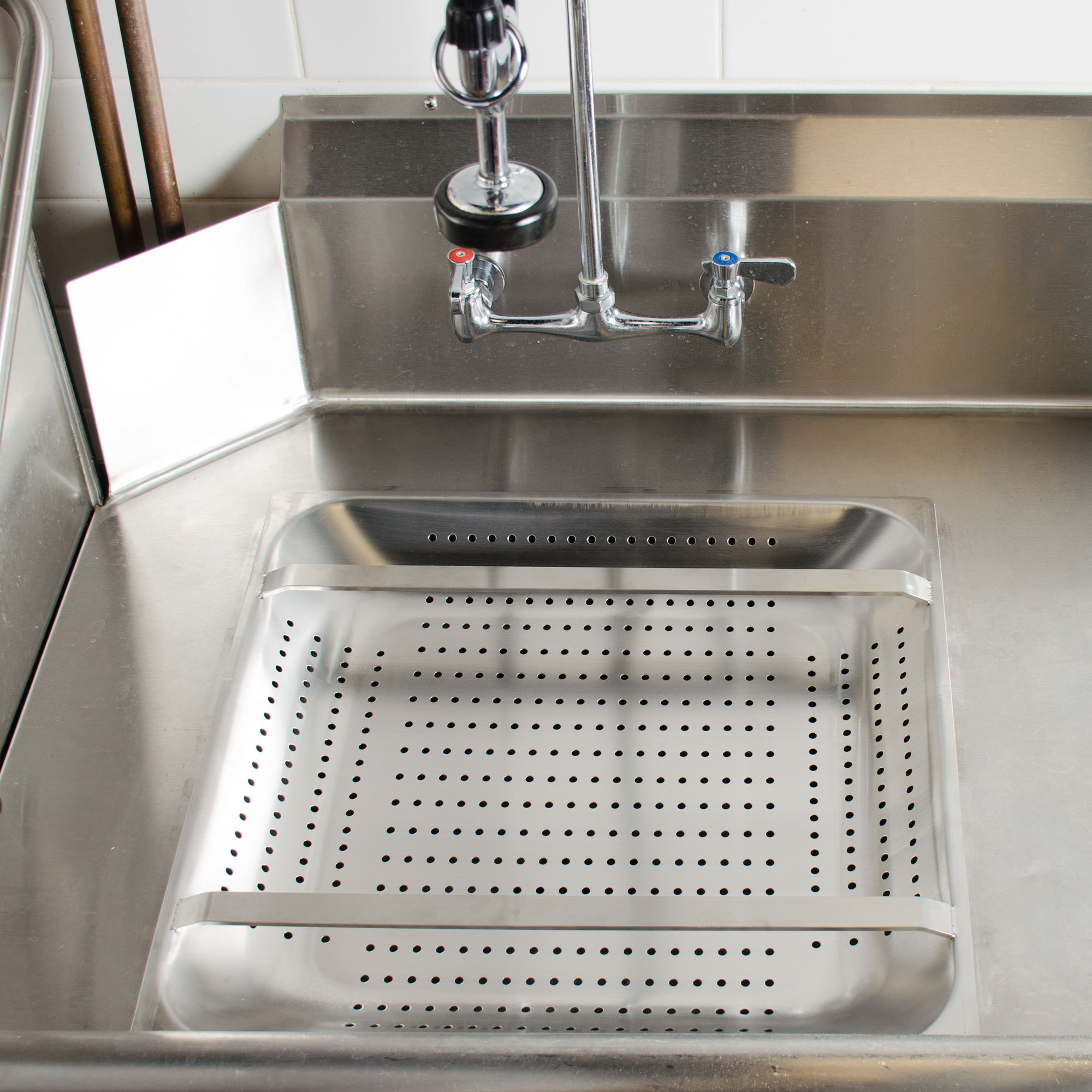 Stainless Steel Pre Rinse Basket 2 25 Quot Deep