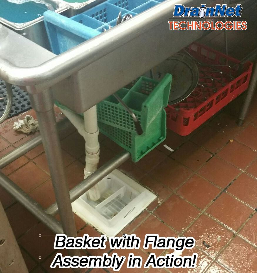 8 5 Quot Floor Sink Basket With Flange Assembly Amp Drain Edge