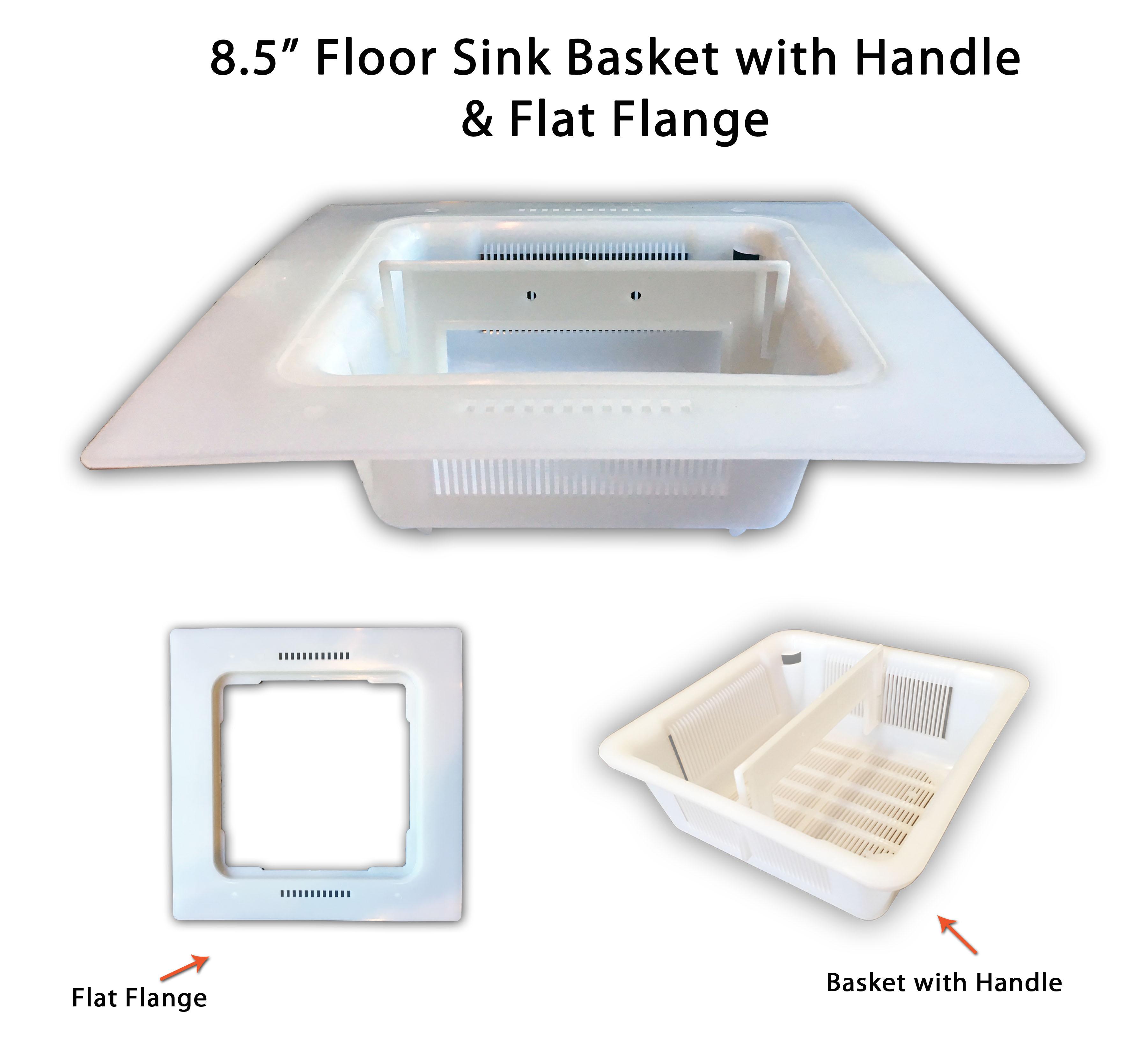 8 5 Quot Floor Sink Basket With 12 Quot Flange Adapter