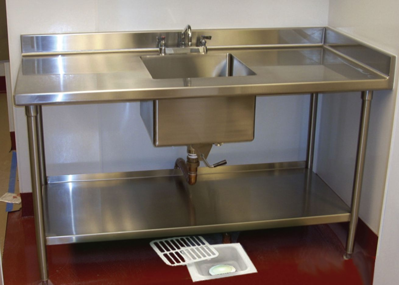 Restaurant Kitchen Sink floor sink defender - eliminate fruit flies, odors, and grease