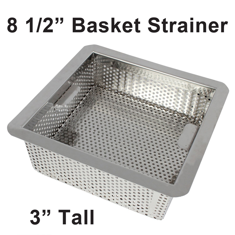 FSQ Floor Sink Basket Drain Strainer - Stainless Steel for ...