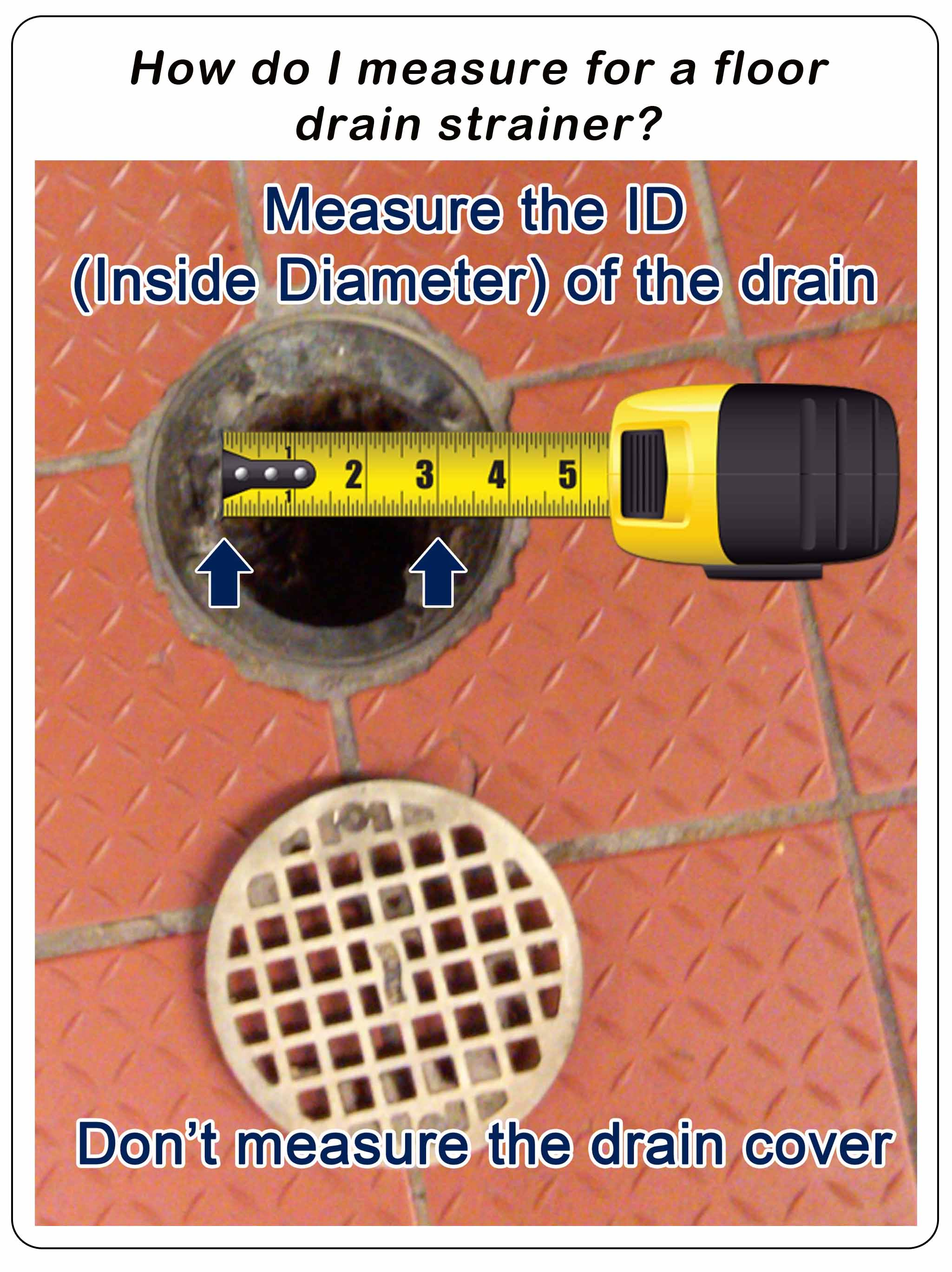 how to measure a drain
