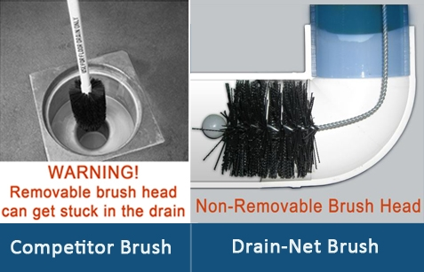 Commercial Drain Brush To Clean Facility Floor Drains And
