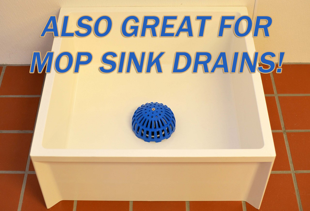 drain lock for mop sink basin