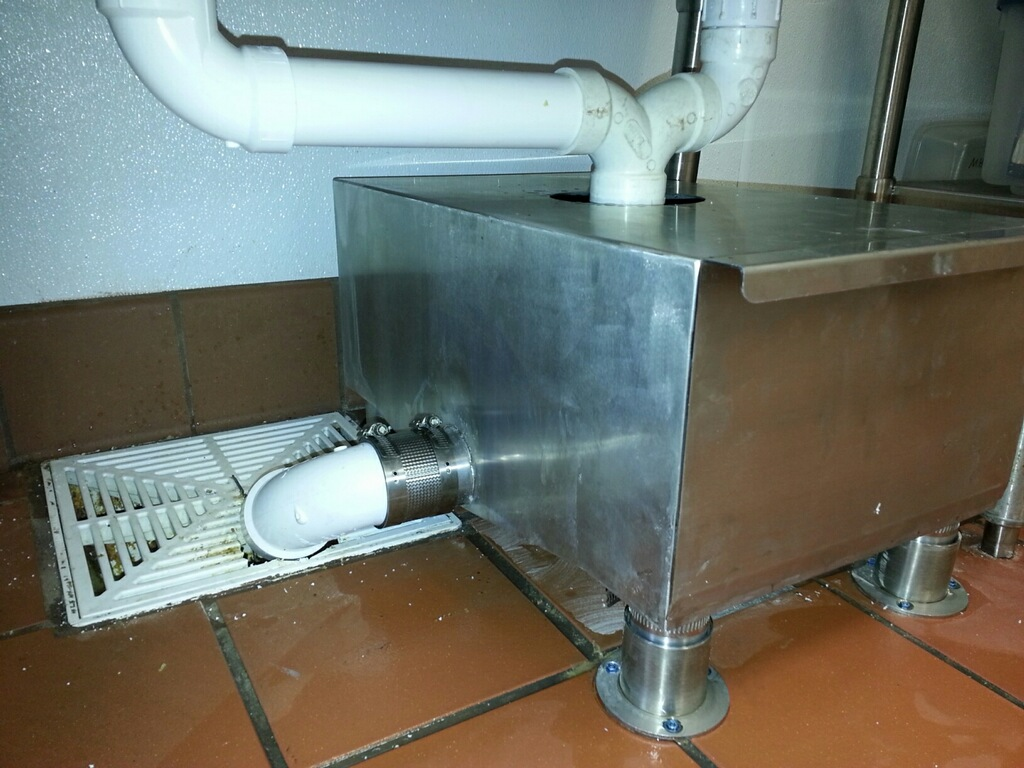 A6 Flat Strainer - for under kitchen sink wet waste removal similar ...