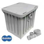 Compact Plastic Grease Trap 20 LBS / 10 GPM