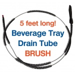 Cleaning the Soda Fountain Drain Line brush