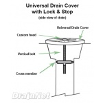 Universal Locking Drain Cover Diagram