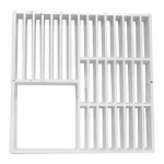 Floor Sink Replacement Grate - 9 x 9 inch - Three Quarters Grate