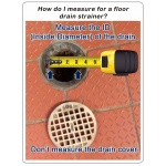 How to measure for a floor drain strainer
