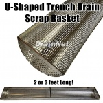 u-shaped stainless steel trench drain basket for scrap