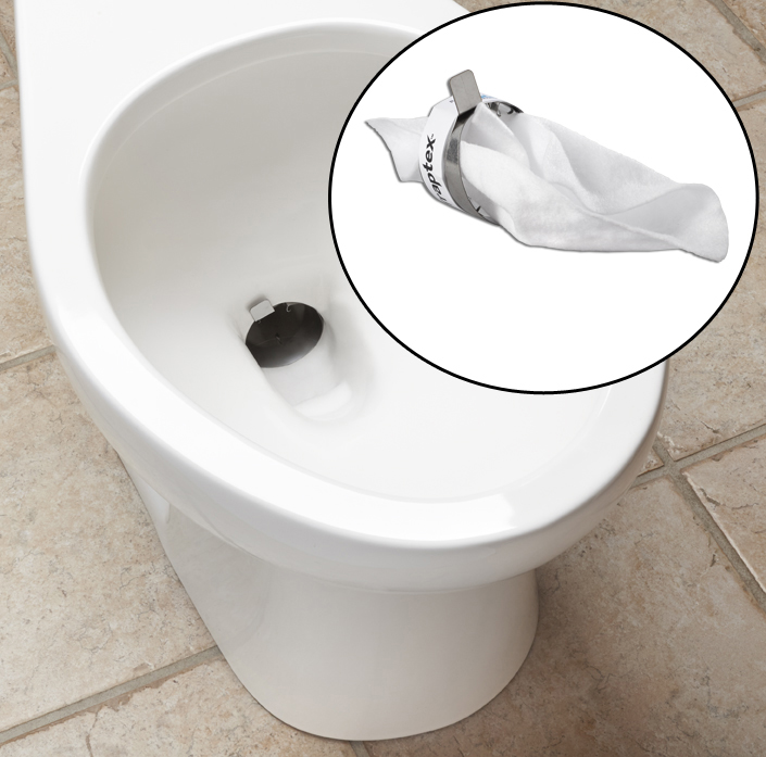 Traptex 174 Prevent Toilet Clogs With This Toilet Protector