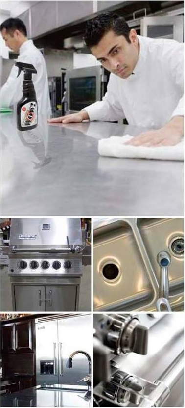 commercial kitchen cleaner for metal surfaces
